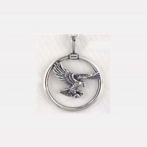 Flying Eagle Sterling Silver Necklace | Nature Jewelry