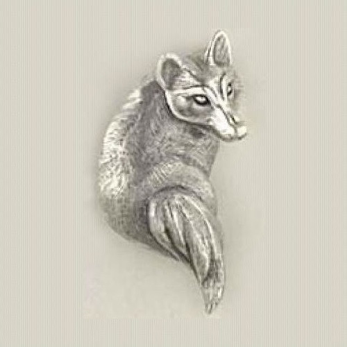Fox Sterling Silver Pin | Nature Jewelry