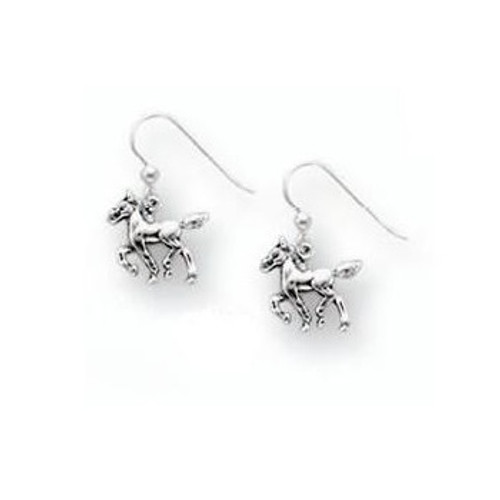Horse Foal Sterling Silver Wire Earrings | Nature Jewelry