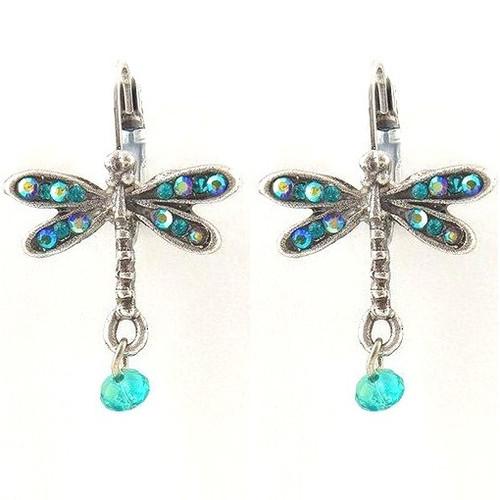 Floribunda Dragonfly Earrings   Nature Jewelry