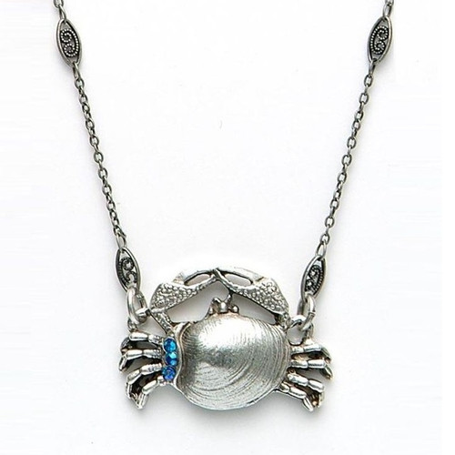 By the Sea Crab Necklace | Nature Jewelry