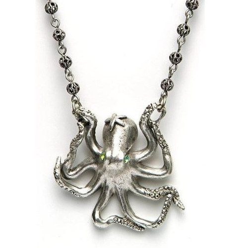 By the Sea Octopus Necklace | Nature Jewelry