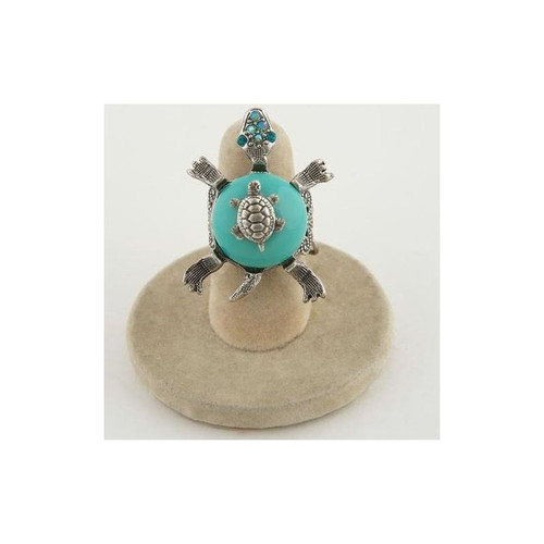 Turtle Turquoise Tortuga Ring | Nature Jewelry