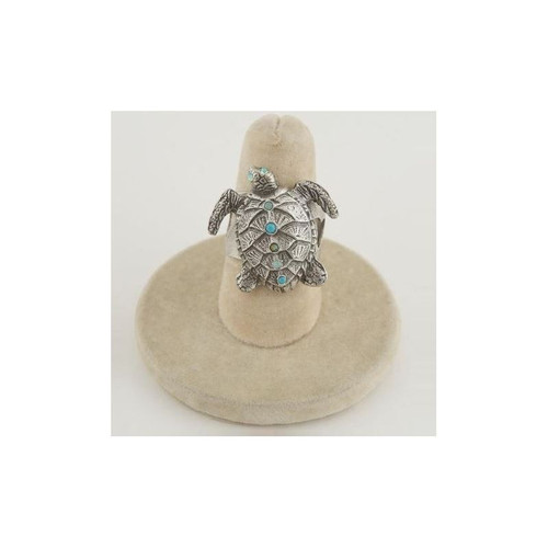 Turtle Turquoise Crystal Il Mare Ring | Nature Jewelry