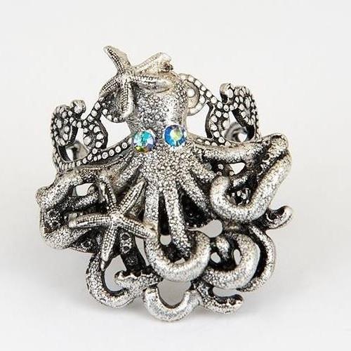 Octopus and Starfish Ring | Nature Jewelry