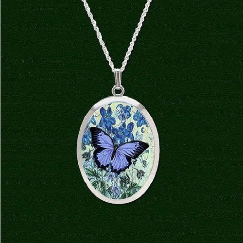Blue Butterfly Pro Arte Pendant Necklace | Nature Jewelry