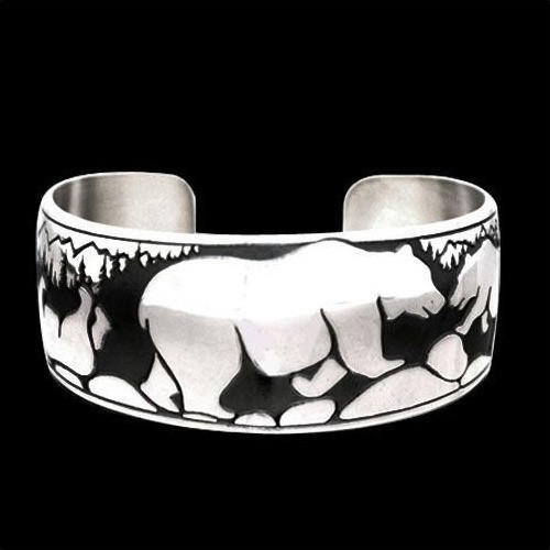 Happy Bear Sterling Silver Bracelet | Nature Jewelry
