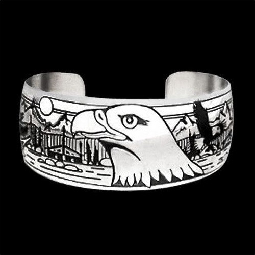 """Eagle Silver Bracelet """"Council Ground"""" 