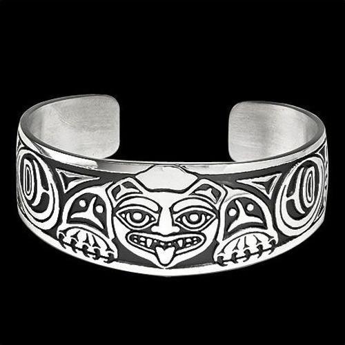 Biorka Bear Sterling Silver Cuff Bracelet | Nature Jewelry
