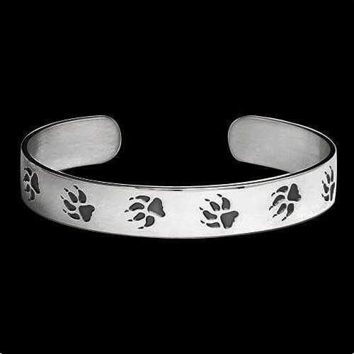Wolf Trax Sterling Silver Bracelet | Nature Jewelry