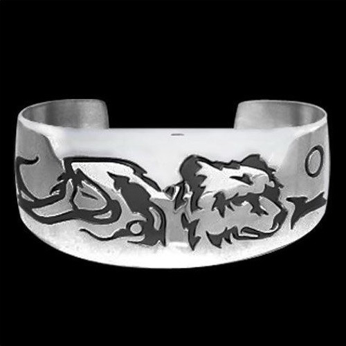 "Bear Sterling Silver Bracelet ""Maiden Clan"" | Nature Jewelry"