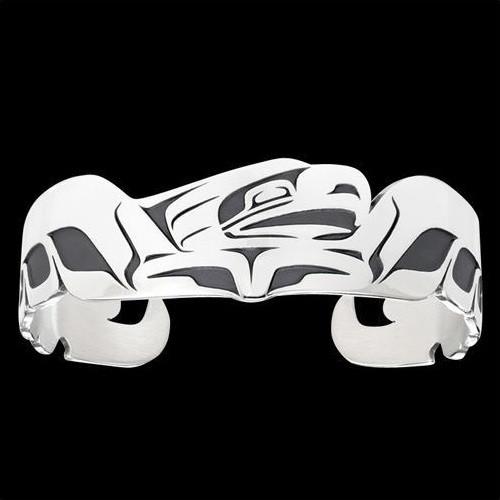 Eagle Spread Tribal Cuff Bracelet Silver | Nature Jewelry