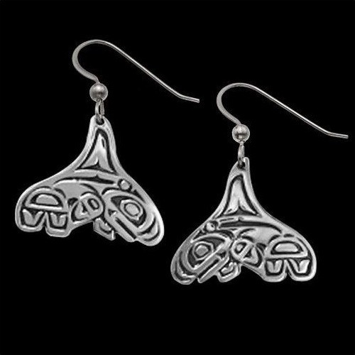 Whale Tail Earrings Breath of Power | Nature Jewelry