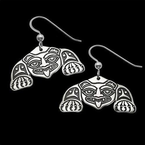 Biorka Bear Tribal Sterling Silver Earrings | Nature Jewelry