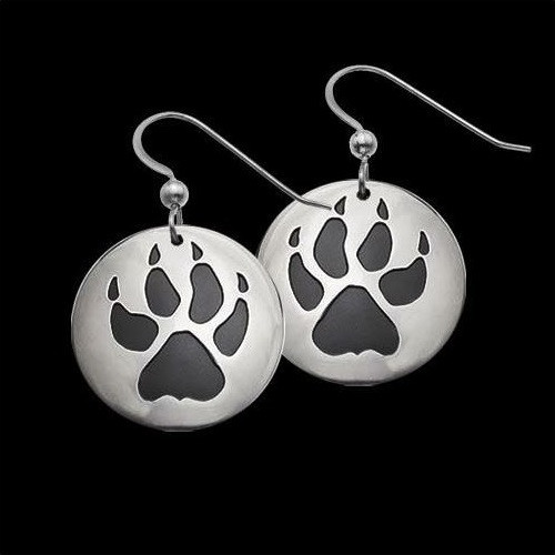 Wolf Trax Sterling Silver Earrings | Nature Jewelry