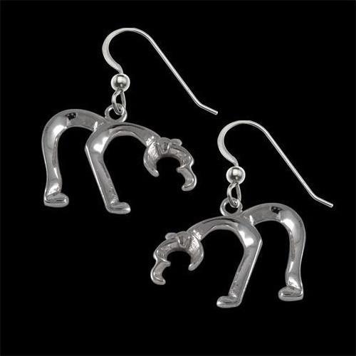 Bear Silver Earrings | Nature Jewelry