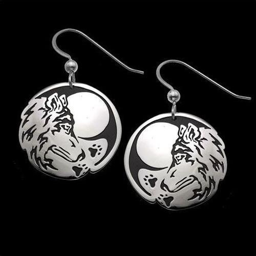 Wolf Seeker Sterling Silver Earrings | Nature Jewelry