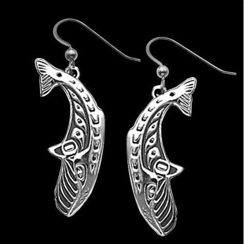 Whale Dive Sterling Silver Earrings | Nature Jewelry