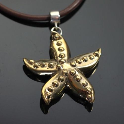 Starfish Bronze Pendant Necklace | Nature Jewelry