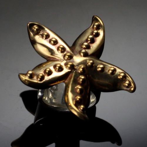 Starfish Bronze Ring | Nature Jewelry