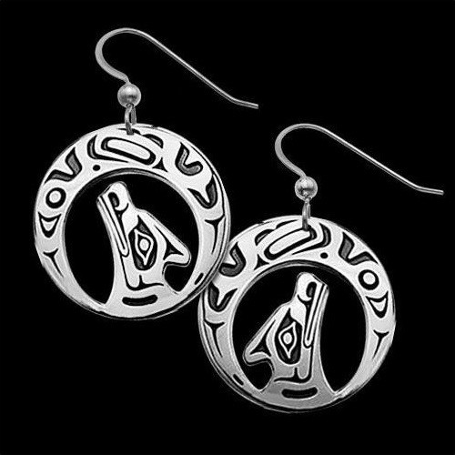Wolf Earrings Night Song | Nature Jewelry