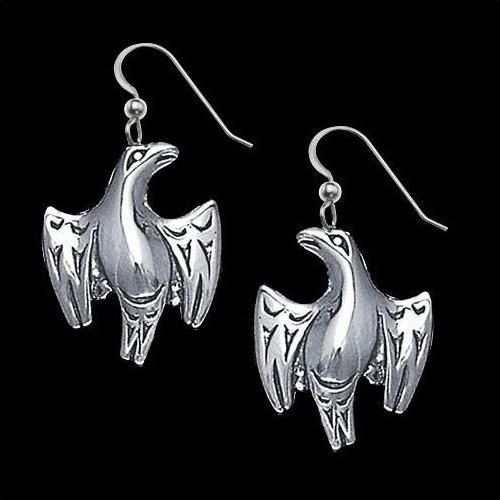Eagle Sterling Silver Earrings Salish | Nature Jewelry