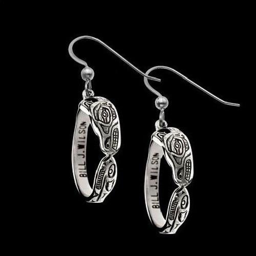 Wolf Sterling Silver Hoop Earrings | Nature Jewelry