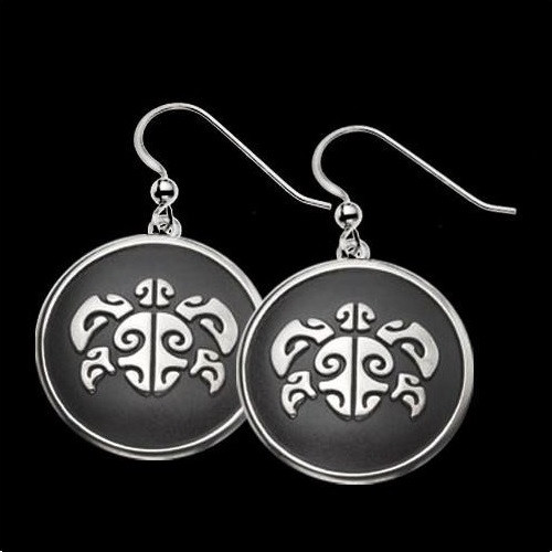 Sea Turtle Honu Head Silver Earrings |  Metal Arts Group Jewelry | MAG27001-S