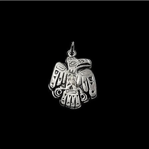 Eagle Sterling Silver Tribal Pendant Necklace | Nature Jewelry