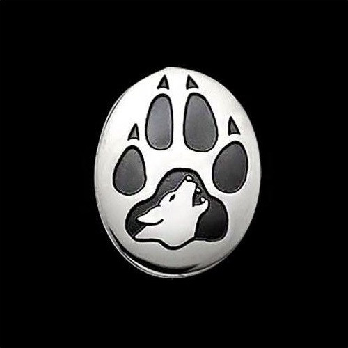 Wolf Print Sterling Silver Pendant Necklace | Nature Jewelry