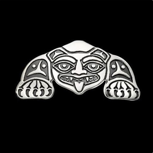Biorka Bear Tribal Sterling Silver Pendant Necklace | Nature Jewelry