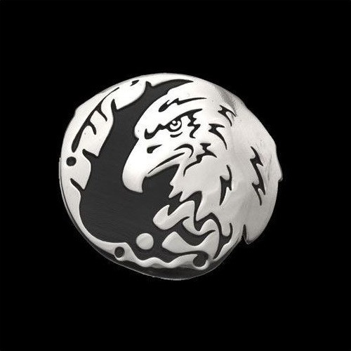 """Eagle Sterling Silver Pendant Necklace """"Protector"""" 