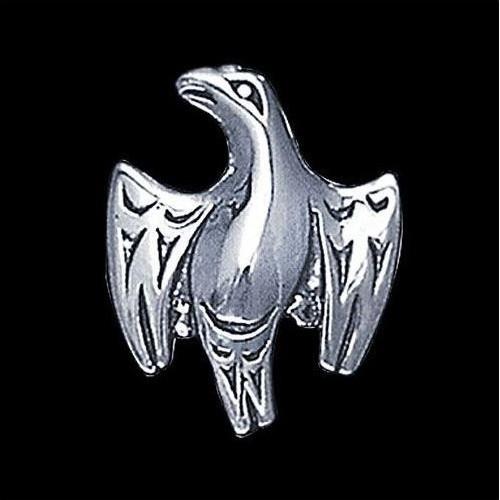 Eagle Silver Salish Tribal Pendant Necklace | Nature Jewelry