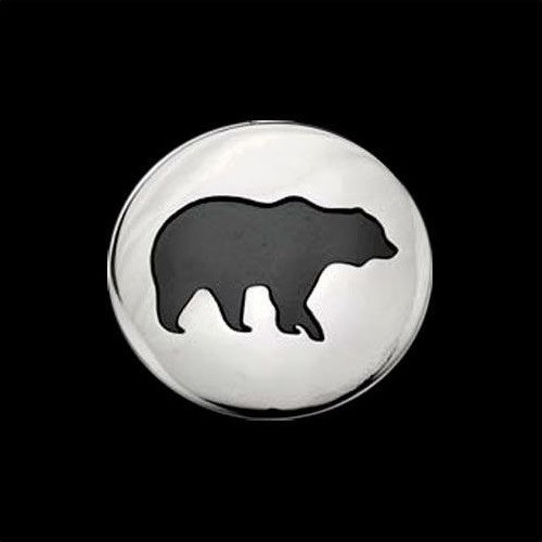 Bear Shadows Sterling Silver Pendant Necklace | Nature Jewelry