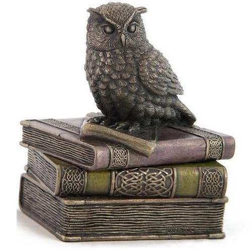 Owl On Books Trinket Jewelry Box