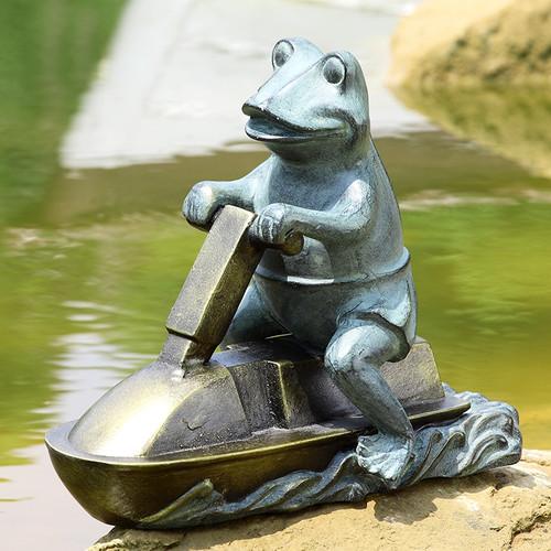 Jetski Frog Garden Sculpture | 34212
