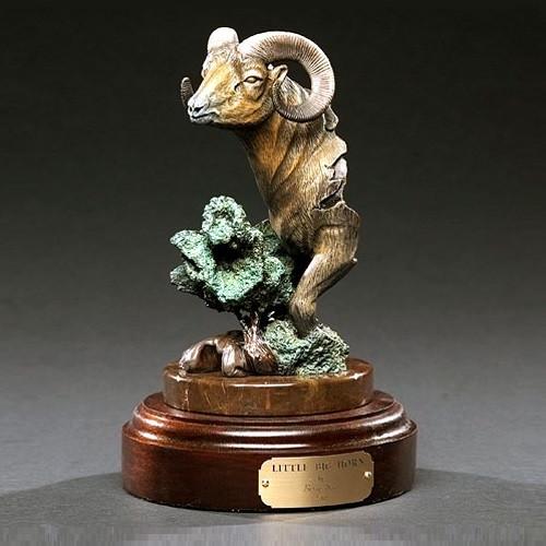 """Ram Bronze Sculpture """"Little Bighorn"""""""