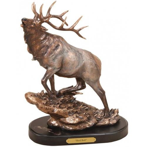 Elk Herd Bull Sculpture