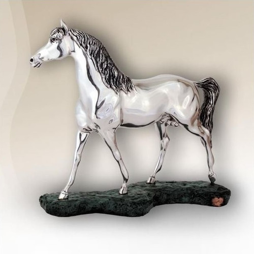 Arabian Horse Silver Plated Sculpture | 8028