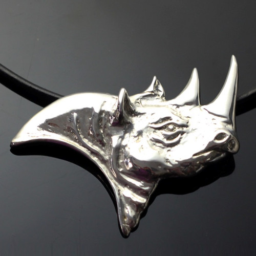 Rhino Sterling Silver Necklace | Nature Jewelry