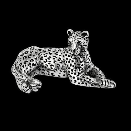 Leopard Silver Plated Sculpture | A502