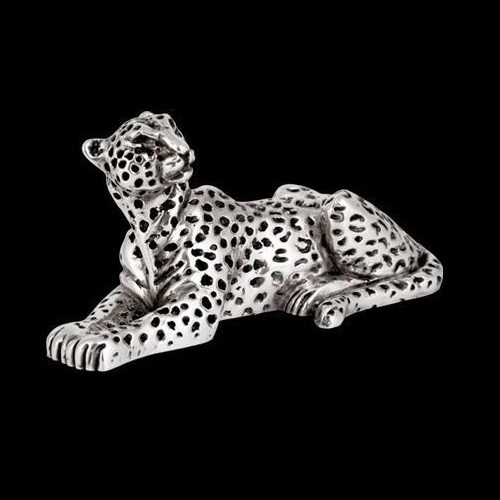 Leopard Silver Plated Sculpture | A503