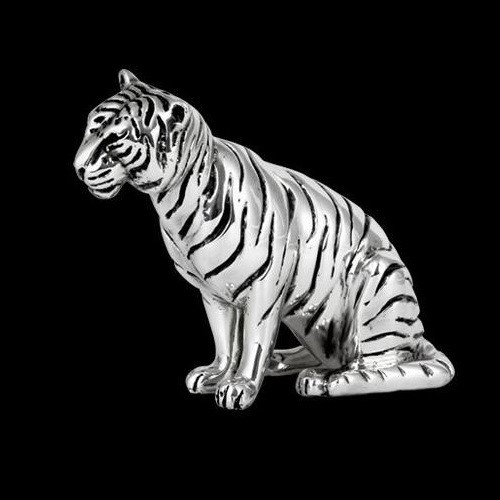 Tiger Silver Plated  Sculpture   A505