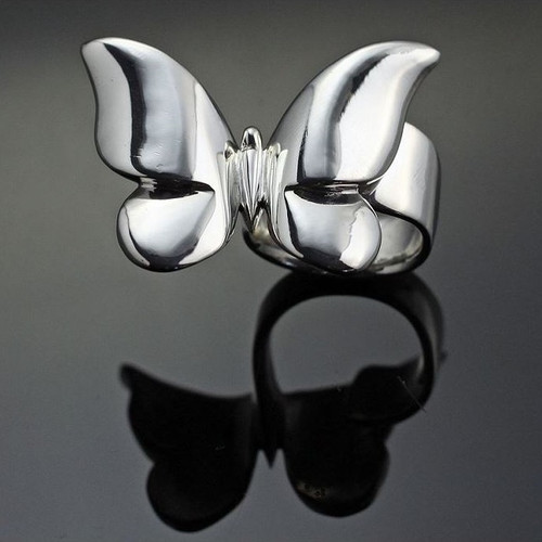 Butterfly Sterling Silver Ring | Nature Jewelry