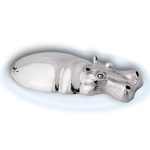 Hippo Silver Plated Sculpture | A68