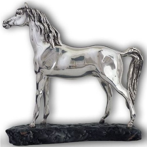 Arabian Horse Silver Plated Sculpture | A71