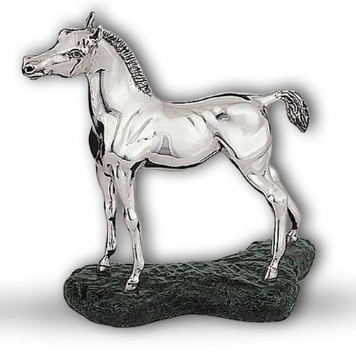 Arabian Colt Silver Plated Sculpture | A75