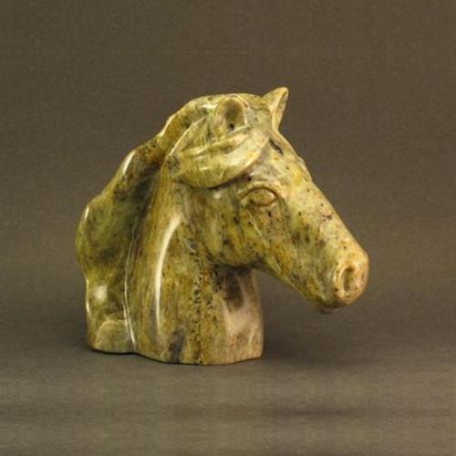 Horse Bust Stone Sculpture   Douglas Creek   2500