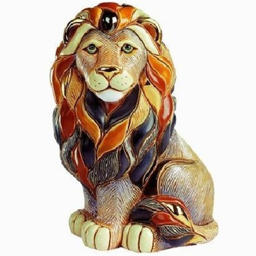 Lion Sitting Ceramic Figurine | Rinconada