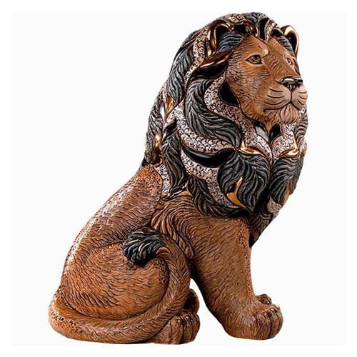 Majestic Lion Ceramic Figurine | Rinconada